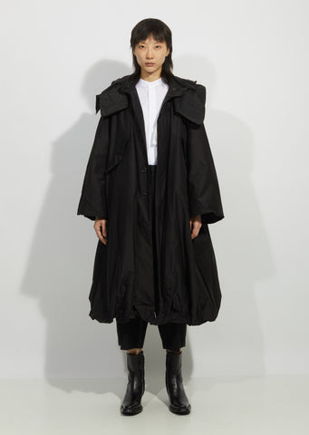 Hooded Parka Silk Coat