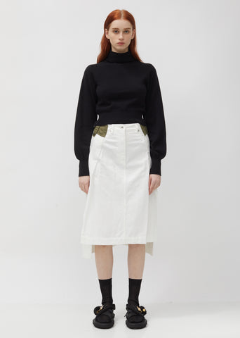 Denim & Taffeta Skirt