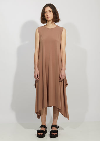 Drape Jersey Nude Dress