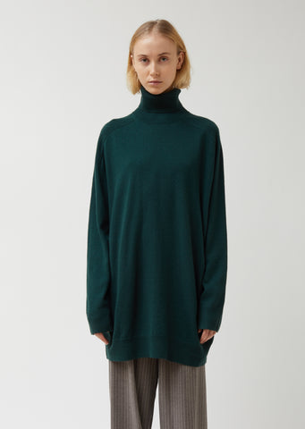 Merino Wool Cashmere Blend Turtleneck