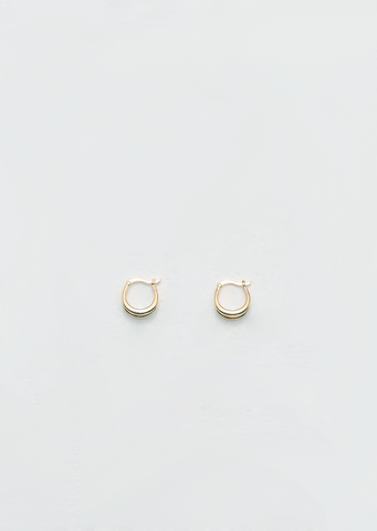 Gold Double Francois Hoops