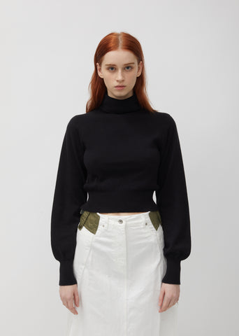 Cotton Knit Turtleneck Pullover