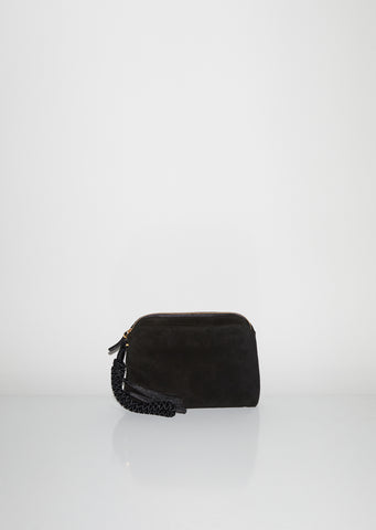 Multi Pouch Wristlet Bag in Suede