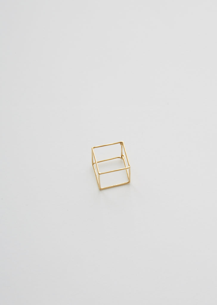 3D Square Earring 01 — 20mm