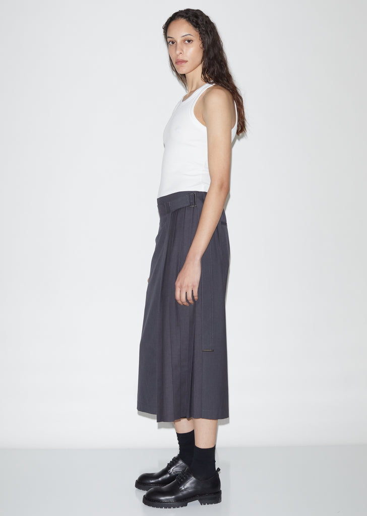 Pleated Wideleg Culottes