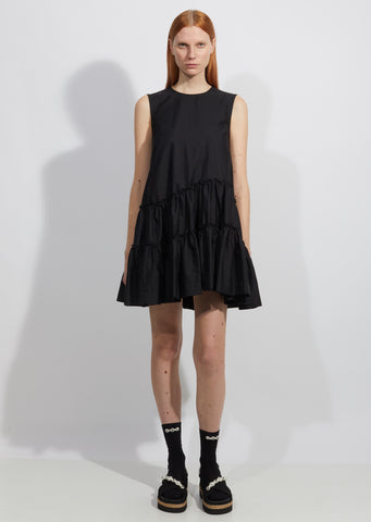 Sleeveless Short Frill Dress