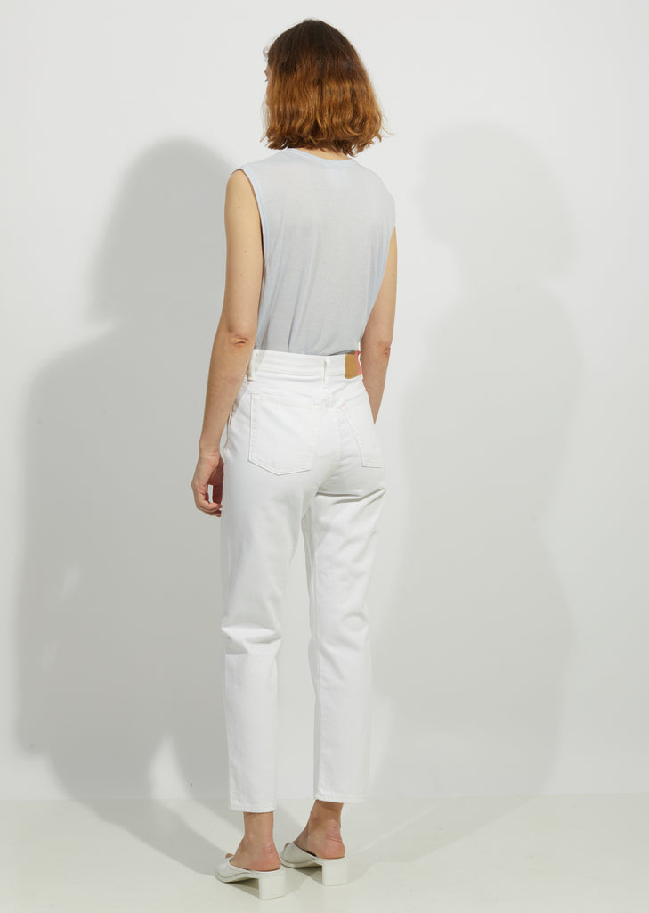 "Mece White 5-Pocket Jeans — 32"" Inseam"