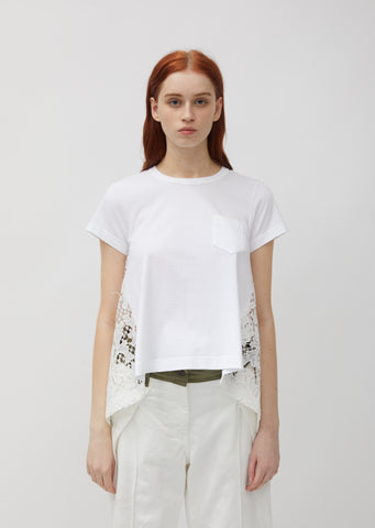 Embroidery Lace Cotton Tee
