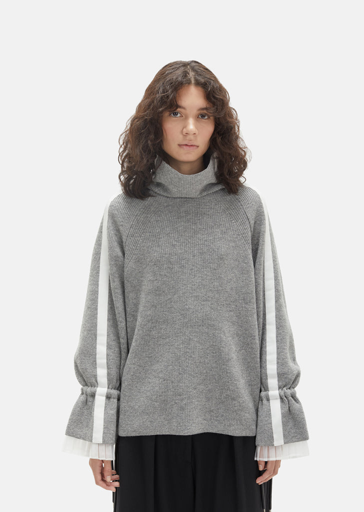 Lace Bell Sleeve Turtleneck