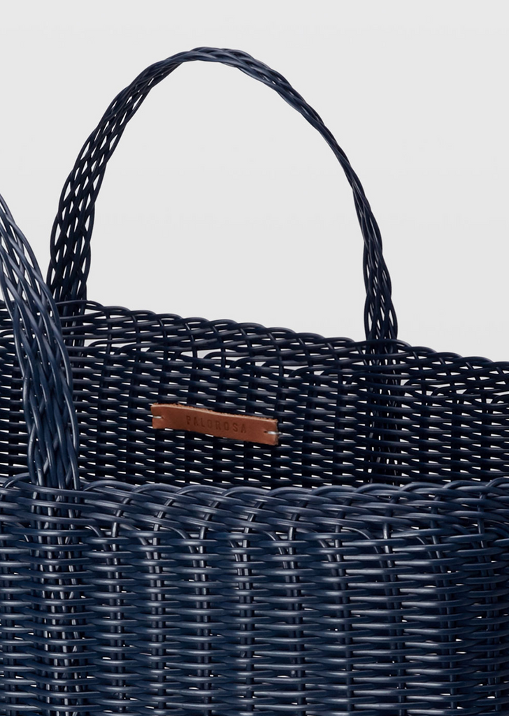 Basket Tote Bag Extra Large — Midnight Blue