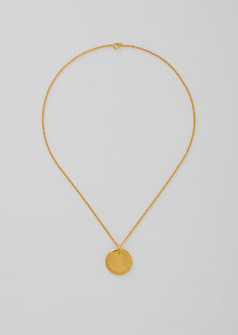 Gold Simple Circle Pendant