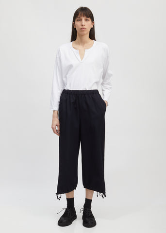 Drawstring Cuff Wide Leg Pants