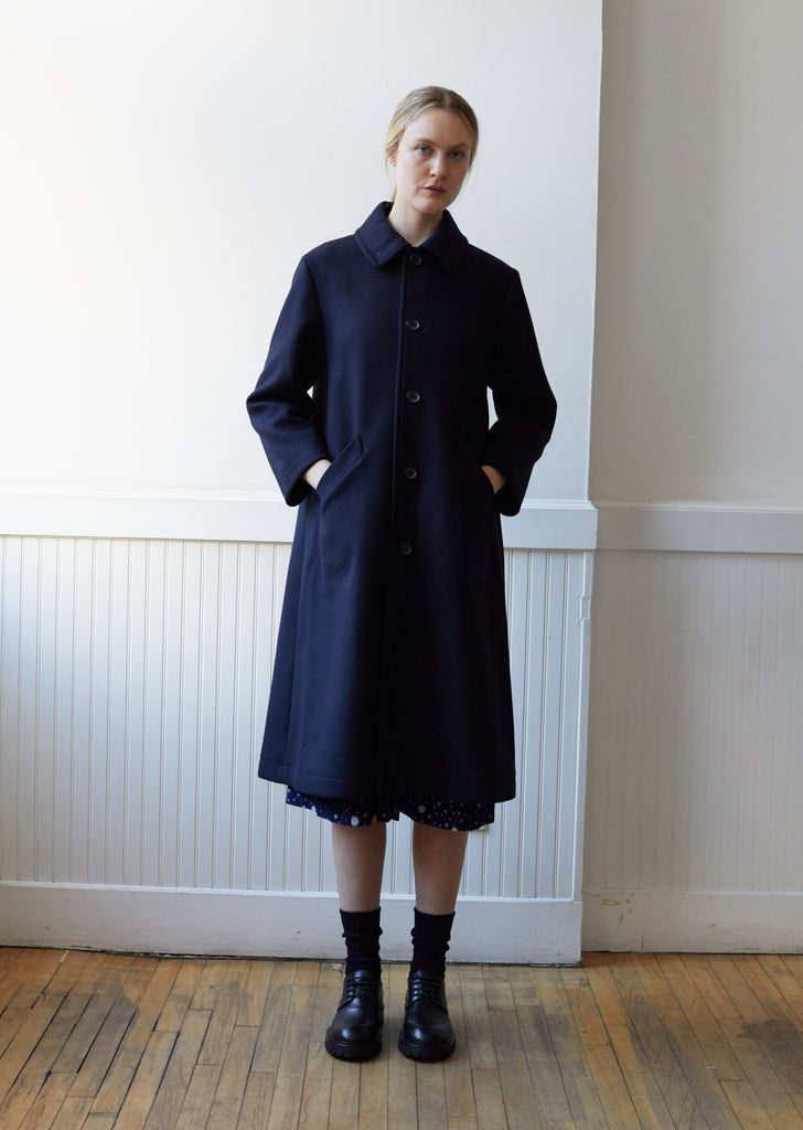 Starry Night Double Melton Drop Shoulder Coat