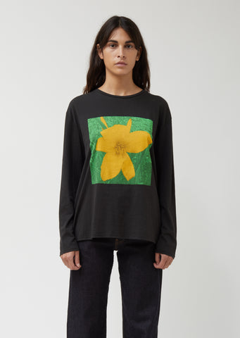 NYC Flower Long Sleeve Man Tee