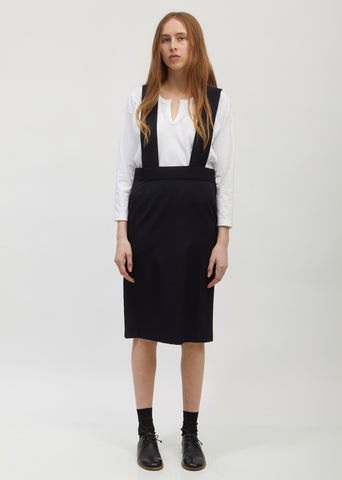 Gabardine Suspender Skirt