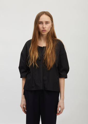 Broadcloth V-Neck Blouse