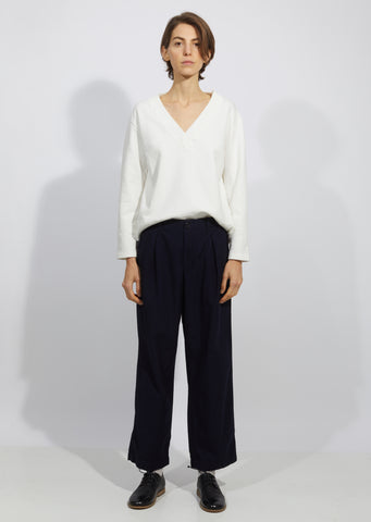 Indigo Yarn Dyed Satin Back Work Pants