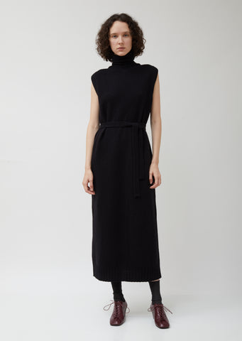 Black Wool Tube Dress