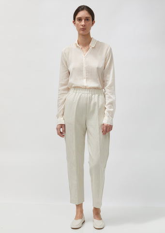 Cotton & Linen Structured Pants