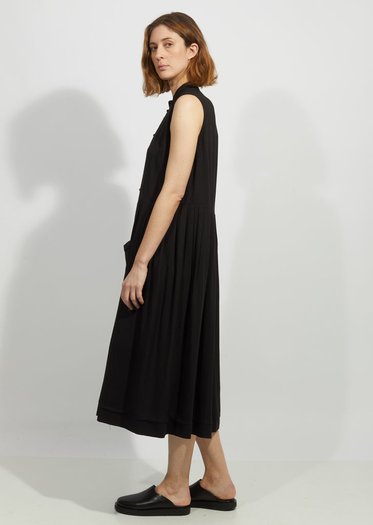 Black Mandarin Dress