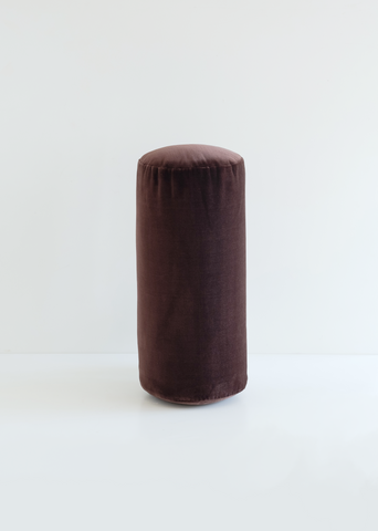 Bolster Cushion — Dark Chocolate Velvet