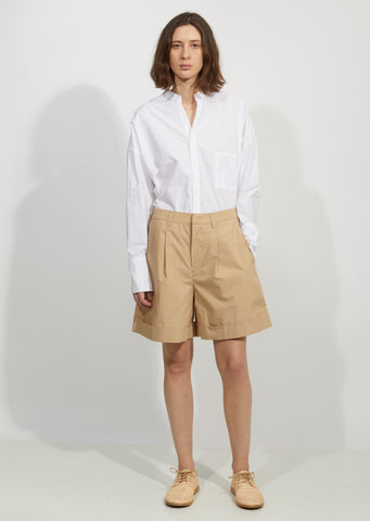 Cotton Poplin Turnup Shorts