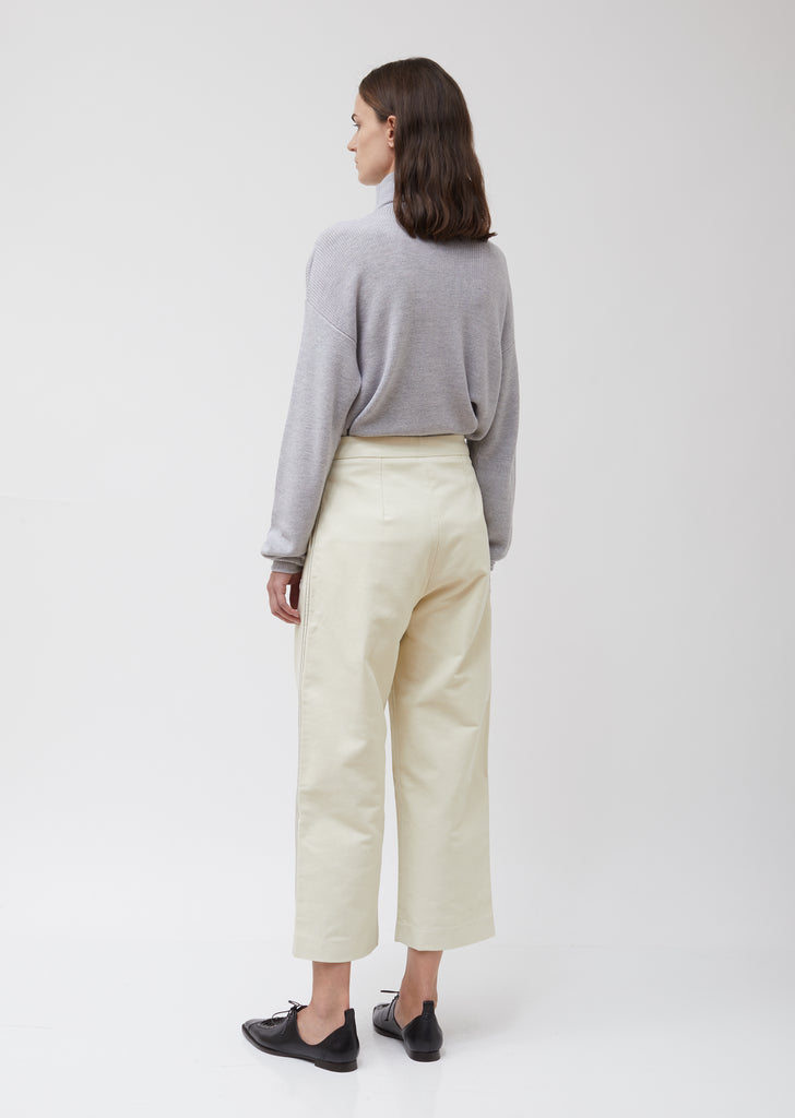 Heavy Cotton Twill Flared Pants