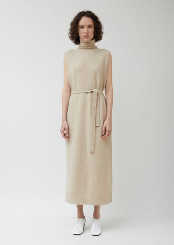 Beige Wool Tube Dress