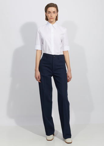 Murphy Cotton Silk Tricotine Pant