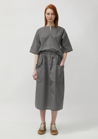 Sakura Front Pockets Midi Skirts