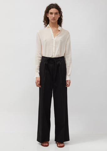 Makò Cotton Twill Belted Pants