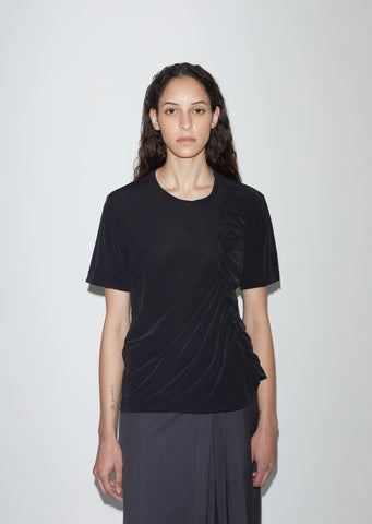 Knit Jersey Gather Tee