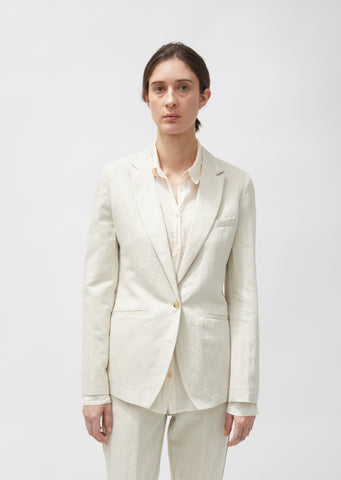 Cotton & Linen Structured Jacket