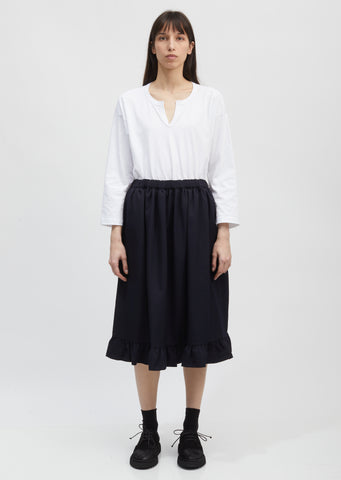 Ruffled Hem Drawstring Skirt