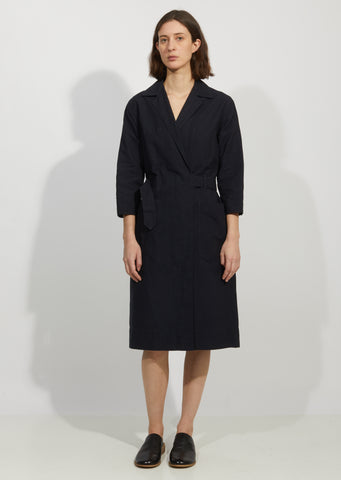 Cotton & Linen Overall Wrap Dress