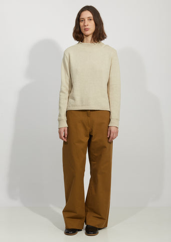 Linen & Cotton Officers Jumper Sweater