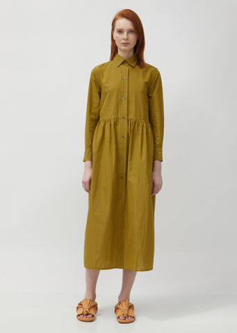 Donella Garthered Waist Shirt Dress
