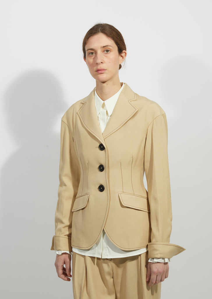 Drop Shoulder Tailored Jacket