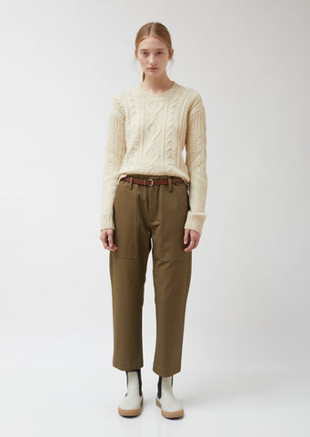 Porter Cotton Twill Straight Pants