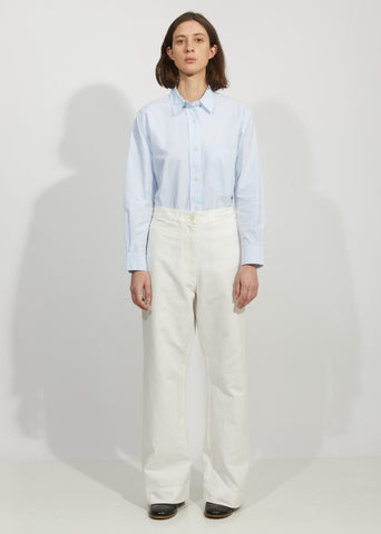Wide Leg Naval Trouser