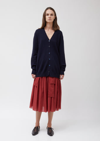 Knitted Wool Cashmere Oversize Cardigan