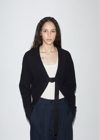 Belted Haori Cotton Cardigan