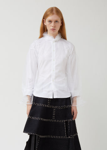 Cotton Broad Organdy Shirt