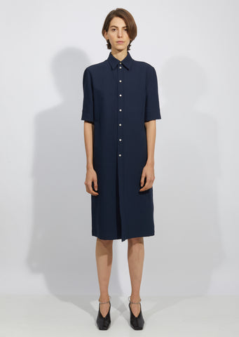 Martel Cotton Silk Tricotine Dress