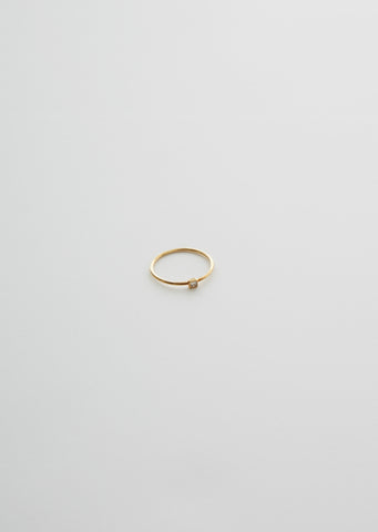18K Petite Square Diamond Ring