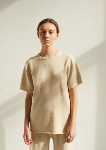Cashmere Latte T Shirt Sweater
