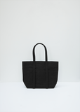 Washed Canvas 6-pockets Tote Small — Black