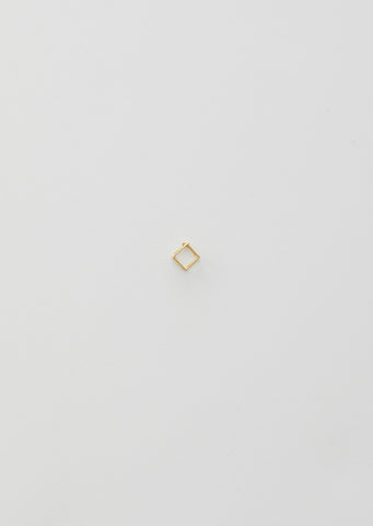 7MM 3D SQUARE EARRING