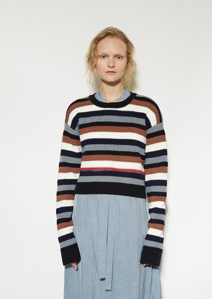 Stripe Cotton Sweater