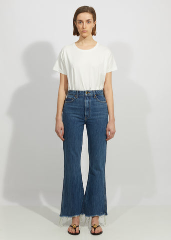 Gabbie Crop Bell Bottom Jean